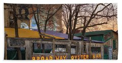Broadway Oyster Bar Beach Sheet by Robert FERD Frank