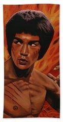 Bruce Lee Enter The Dragon Beach Sheet by Paul Meijering