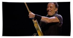 Bruce Springsteen In Cleveland Beach Towel