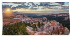 Bryce Canyon Sunrise Beach Towel by JR Photography