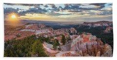 Bryce Canyon Sunrise Beach Sheet by JR Photography