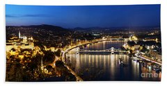 Budapest. View From Gellert Hill Beach Towel by Michal Bednarek