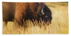 Buff Buffalo Montana Painted Beach Towel