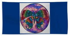 Butterfly Mandala Beach Sheet