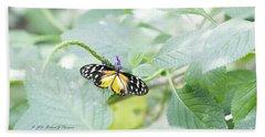 Tiger Butterfly Beach Towel