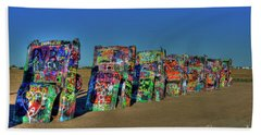 Cadillac Ranch 2 Beach Sheet