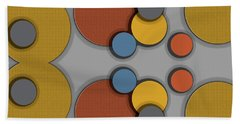 Colorful Circles Beach Towel
