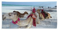 Camel On Beach Kenya Wedding4 Beach Towel