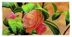 Camellia Candy Beach Towel