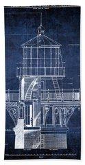 Cape Hatteras Lighthouse Blueprint  1869 Beach Towel