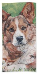 Cardigan Welsh Corgi Beach Towel