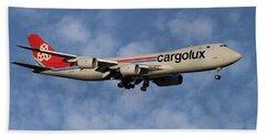 Cargolux Boeing 747-8r7 1 Beach Towel