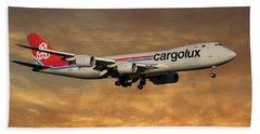 Cargolux Boeing 747-8r7 2 Beach Towel