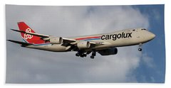 Cargolux Boeing 747-8r7 5 Beach Towel