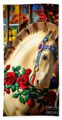 Carousel Horse  Beach Towel