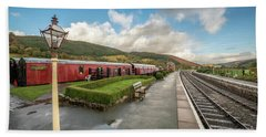 Beach Towel featuring the photograph Carrog Railway Station by Adrian Evans
