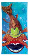 Catfish Clyde Beach Sheet by Vickie Scarlett-Fisher