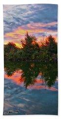 Beach Towel featuring the photograph Centennial Lake At Sunrise by Mark Dodd