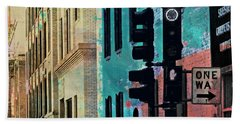 Beach Towel featuring the photograph Central District by Susan Stone