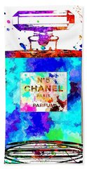 Chanel No. 5 Grunge Beach Towel by Daniel Janda