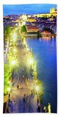 Beach Towel featuring the photograph Charles Bridge by Fabrizio Troiani