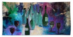 Beach Towel featuring the painting Cheers by Lisa Kaiser
