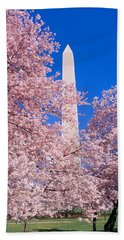 Cherry Blossoms And Washington Beach Towel