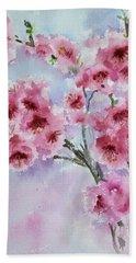 Cherry Blossoms Beach Sheet
