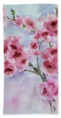 Cherry Blossoms Beach Sheet