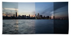 Chicago Skyline Time Slice  Beach Towel