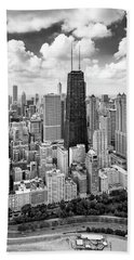 Beach Towel featuring the photograph Chicago's Gold Coast by Adam Romanowicz