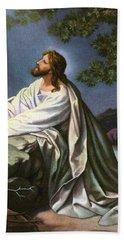 Christ In The Garden Of Gethsemane Beach Towel