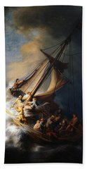 Christ In The Storm On The Lake Of Galilee Beach Sheet
