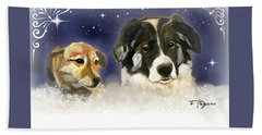 Christmas Doggies Beach Towel