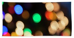 Beach Towel featuring the photograph Christmas Lights by Susan Stone