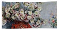 Chrysanthemums Beach Towel