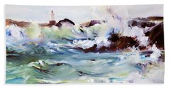 Churning Surf Beach Towel