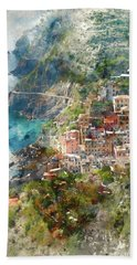 Cinque Terre In Italy Beach Sheet