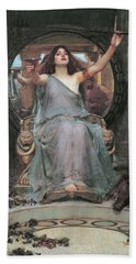 Circe Offering The Cup To Odysseus Beach Towel