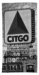 Citgo Sign Kenmore Square Boston Beach Towel