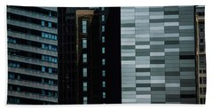 Beach Towel featuring the photograph City Perspective by Michael Nowotny