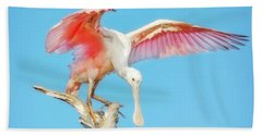 Spoonbill Cleared For Takeoff Beach Towel