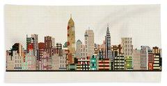 Cleveland Ohio Skyline Beach Towel