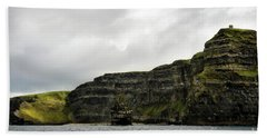 Beach Sheet featuring the photograph Cliffs Of Moher From The Sea by RicardMN Photography
