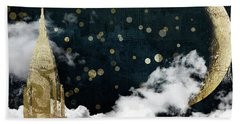 Cloud Cities New York Beach Towel