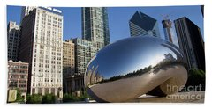 Cloudgate Reflects Beach Towel