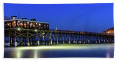 Cocoa Beach Pier At Twilight Beach Towel