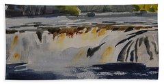 Cohoes Falls Study 2 Beach Towel
