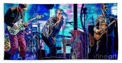 Coldplay Collection Chris Martin Beach Towel by Marvin Blaine