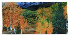 Colorado Aspens Beach Towel by Jeanette French